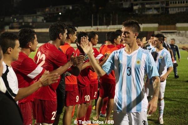 Le miracle a eu lieu, Tahiti bat l'Argentine 3 à 1.