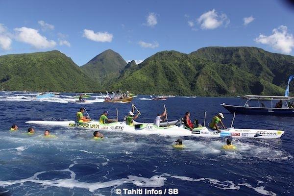 La course s'est déroulée dans un cadre magnifique, au large de Tahiti Iti.