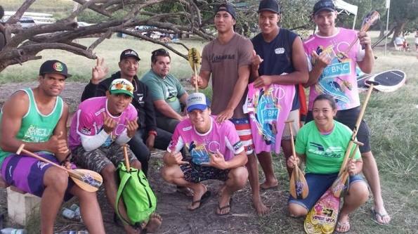 La délégation tahitienne qui a fait le déplacement