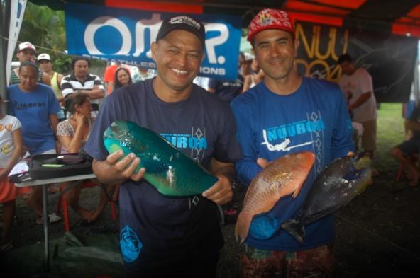 1ère manche du championnat de Polynésie par équipes de pêche sous marine le 6 juin