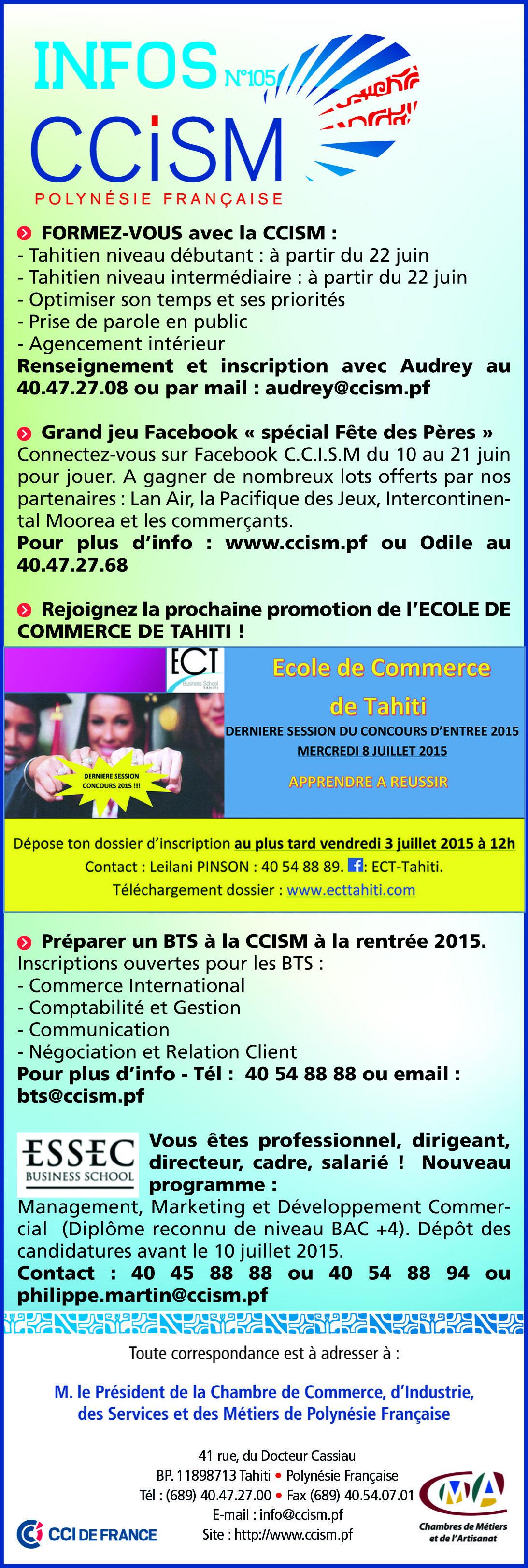 Infos CCSIM N°105