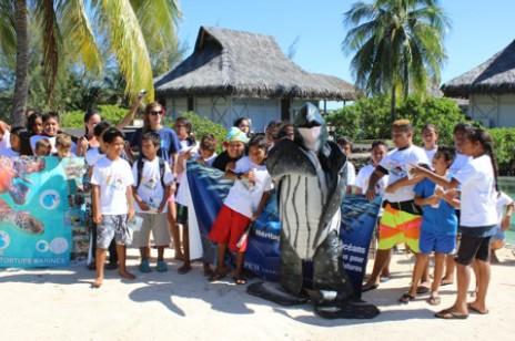 Journée d'échange entre enfants de Moorea et de Tubuai