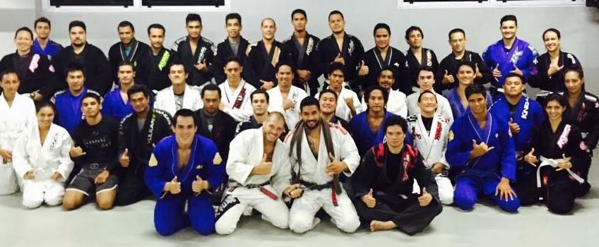 Dany Gérard, Michael Fowler et la Tahitian Top Team, lundi soir.