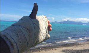 Surf Pro - Michel Bourez, main et vertèbre cassées, est forfait aussi pour Fidji.
