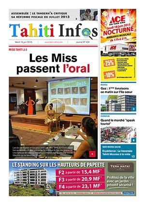 TAHITI INFOS N°434 du 16 juin 2015
