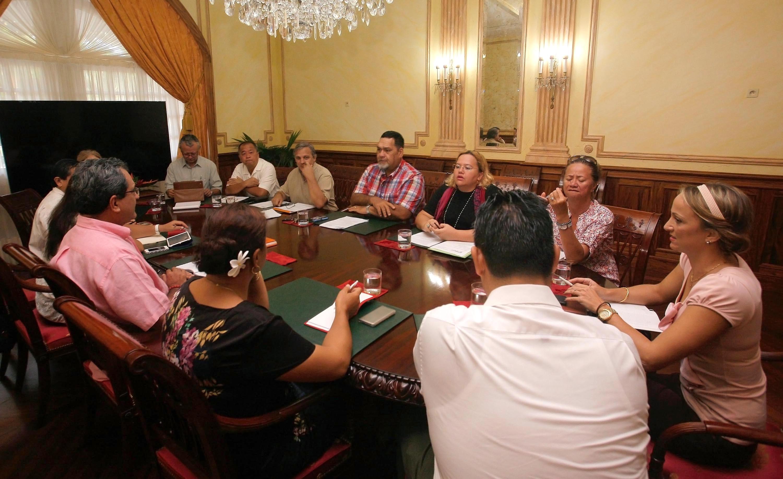 Le Président reçoit une délégation du SPC