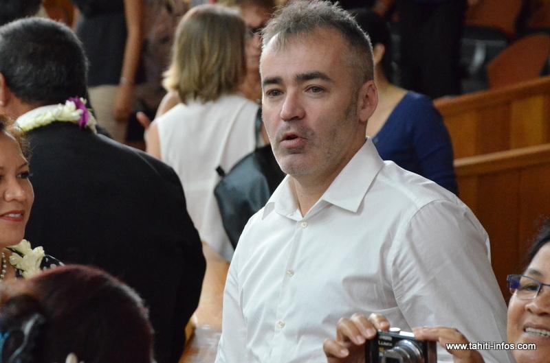 Stéphane Diémert, le 5 décembre 2013 à l'Assemblée de la Polynésie française