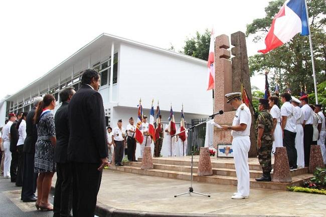 Le monument de la France libre dans ses nouveaux quartiers avenue Pouvana'a a Oopa
