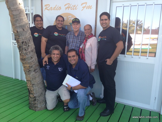L'équipe de Hiti FM au grand complet