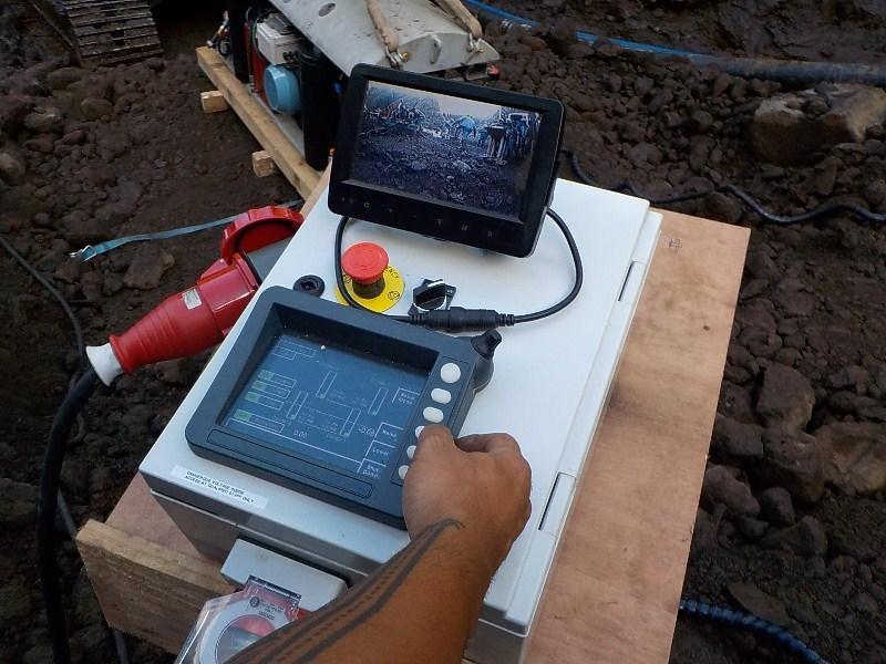 L'écran de contrôle du robot télécommandé