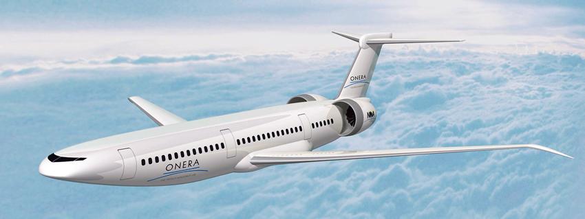 Au Bourget, l'Onera présente Nova, l'avion qui économise 15 à 20% de carburant.