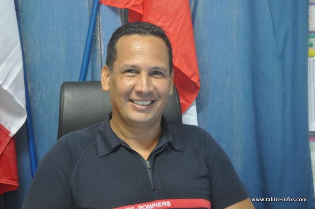 Richard HAUPUNI Chef de corps des sapeurs-pompiers de Mahina