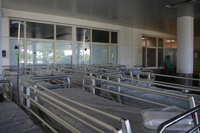 Aucun des investissements prévus en 2015 n'a été effectué pour l'instant alors que les besoins du CHPF sont cruciaux allant même jusqu'au renouvellement de la literie de l'hôpital.