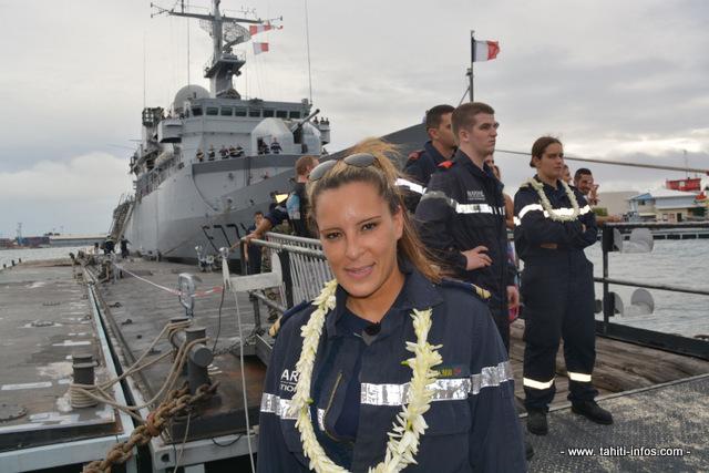Lola 34 ans, second maître à bord du Prairial entrée depuis 13 ans dans la marine nationale est l'une des 10 femmes de l'équipage de cette frégate de surveillance.