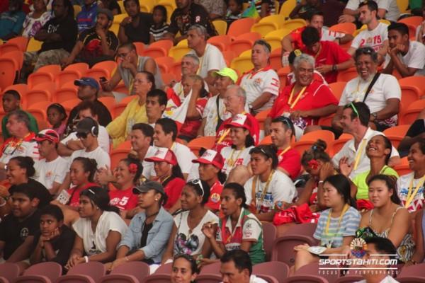 Les supporters tahitiens étaient nombreux dans les tribunes