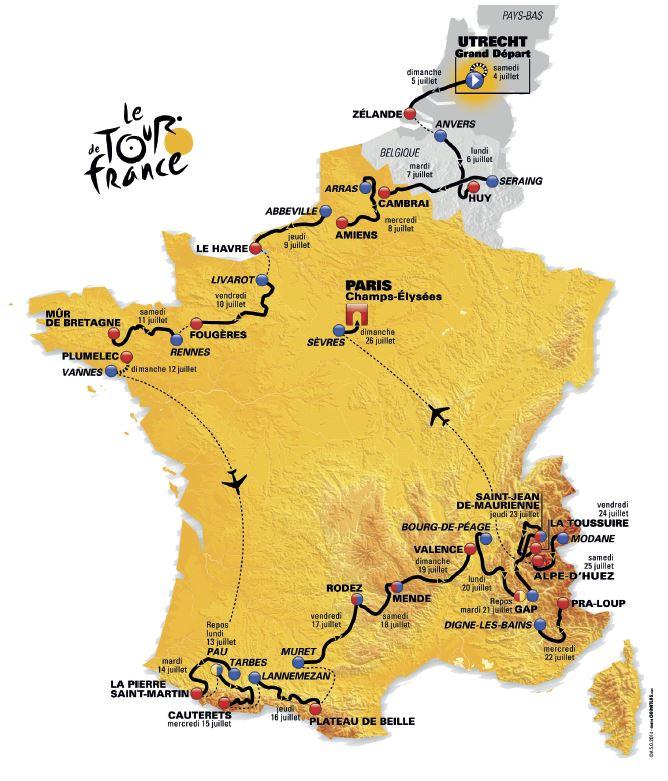 Tour de France - Le parcours, la liste des partants