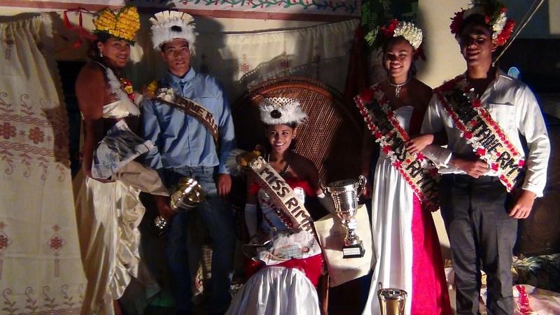 Vaianui Hatitio et Aukino Papara ont été élus Miss et Mister Rimatara 2015