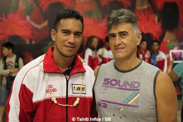 Remuela, ici avec le coach Sylvain Defaix, avait pourtant été le Capitaine de la sélection