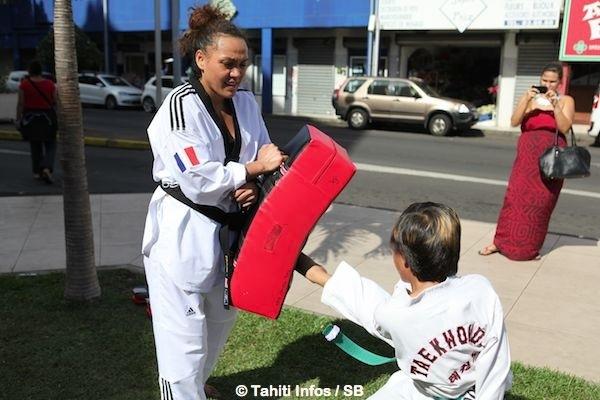 Pour Rio 2016, Anne Caroline a sur son chemin la N°1 française, Gwladys Epangues.
