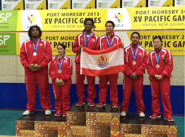 PNG 2015 « Tennis de table » : Un podium 100% tahitien en double mixte