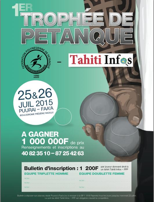 Le 1er trophée de pétanque FPP-Tahiti Infos est né