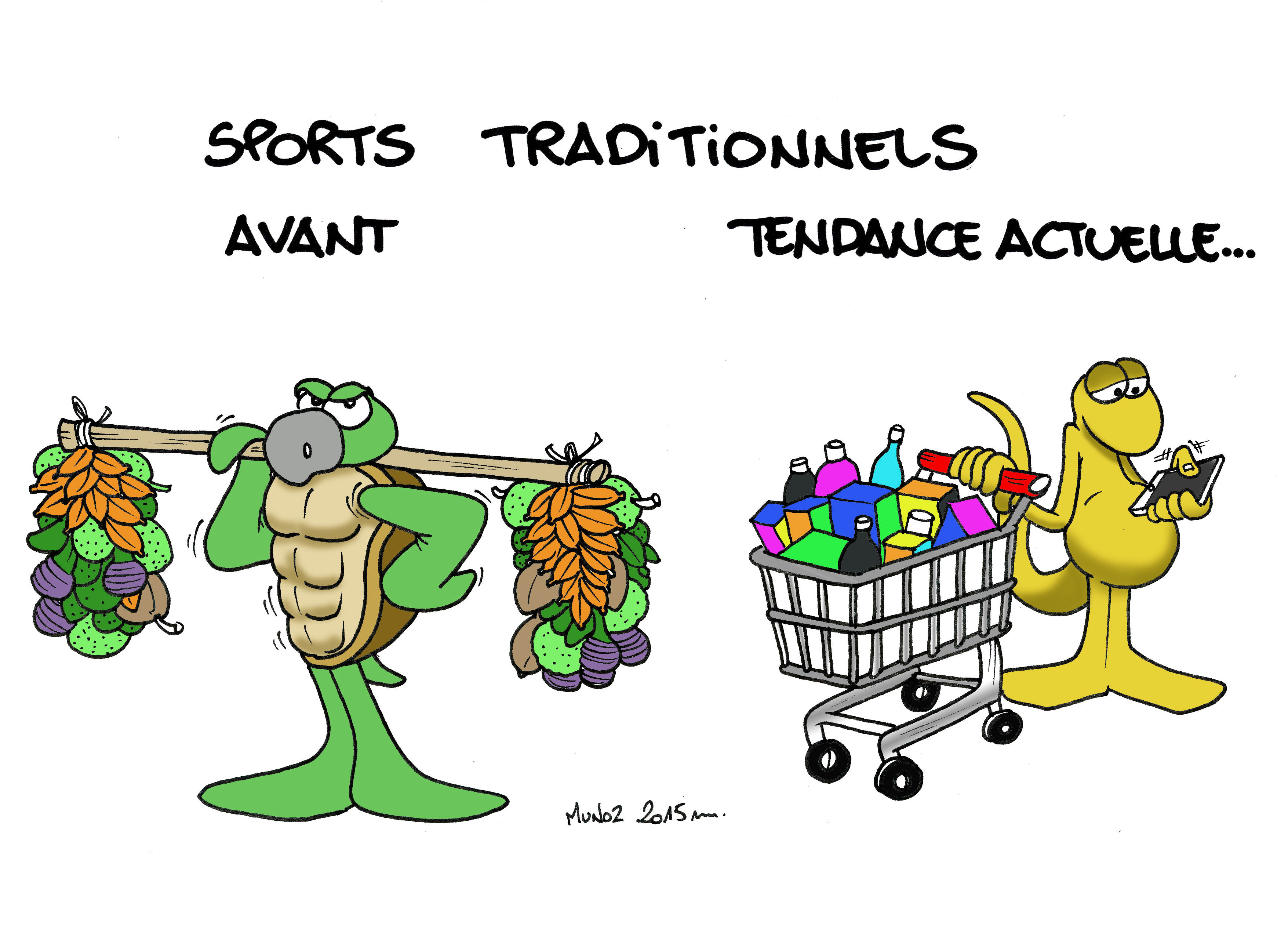"""Sports traditionnels"" vu par Munoz"