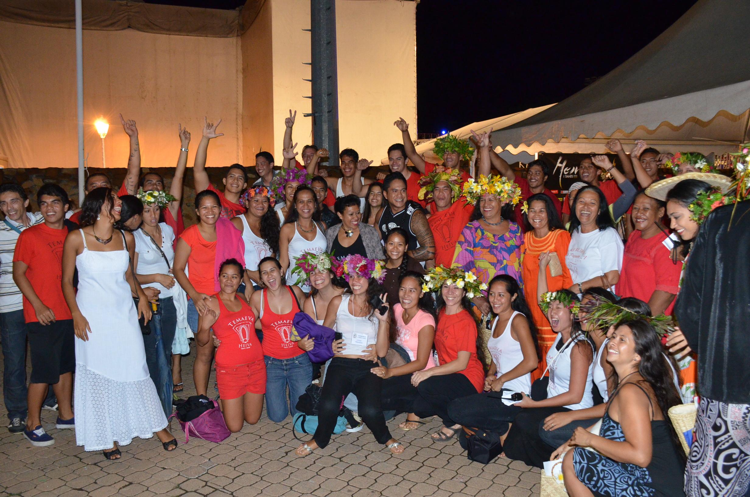 La joie pour la troupe de Temaeva après l'annonce des résultats !