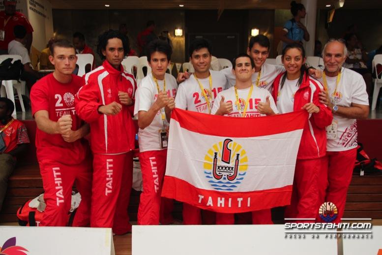 PNG 2015 « Karaté Kumité » : Deux médailles d'argent et une en bronze pour Tahiti