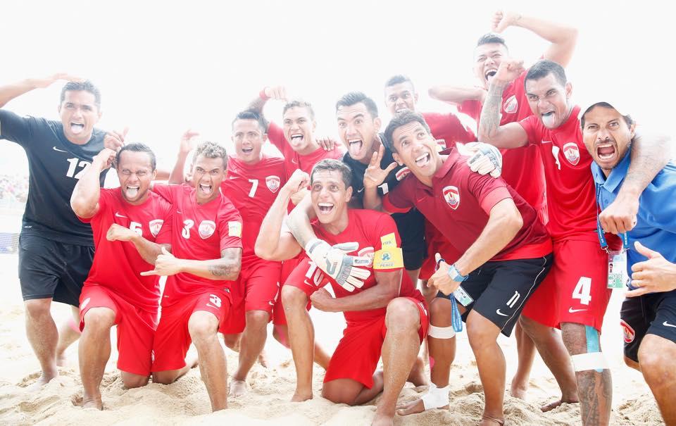 Coupe du monde de Beachsoccer:Tahiti se qualifie pour les 1/2 finales en battant l'Iran 5 à 4