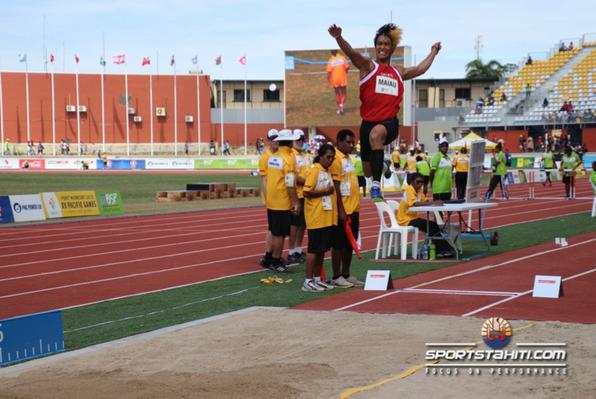 PNG 2015 « Saut en longeur » : Raihau Maiau, un saut en or