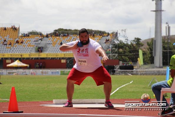 PNG 2015 « Lancer du poids » : De l'Or et un record des Jeux pour Tumatai Dauphin
