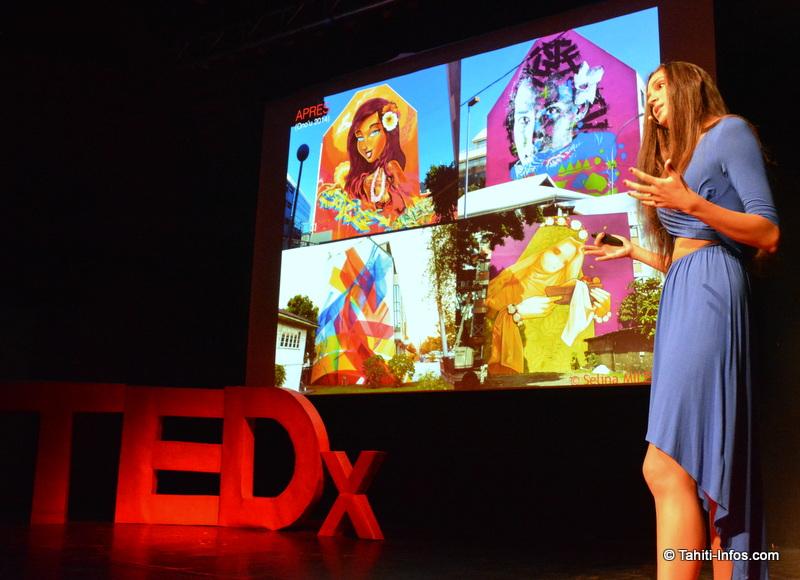 Sarah Roopinia avait présenté son parcours, qui a mené à la création du festival Ono'u et de la Pacific Ocean Gallery, musée d'art urbain à ciel ouvert dans les rues de Papeete.