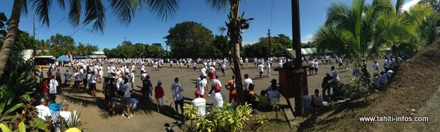 Plus de 1 600 personnes étaient présentes ce matin au boulodrome de Puurai