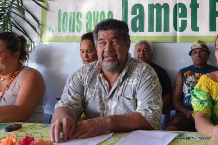 En attendant la décision du Conseil d'Etat, Patrice Jamet reste aux commandes de la commune de Mahina