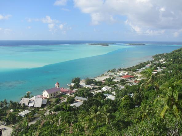 L'île de Maupiti vue d'en haut. La première journée verte de l'île est organisée par la mairie ce mercredi 29 juillet.