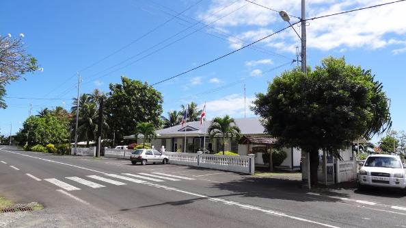 La mairie annexe de Tiarei où se réunissent les élus de la commune de Hitia'a O Te Ra.