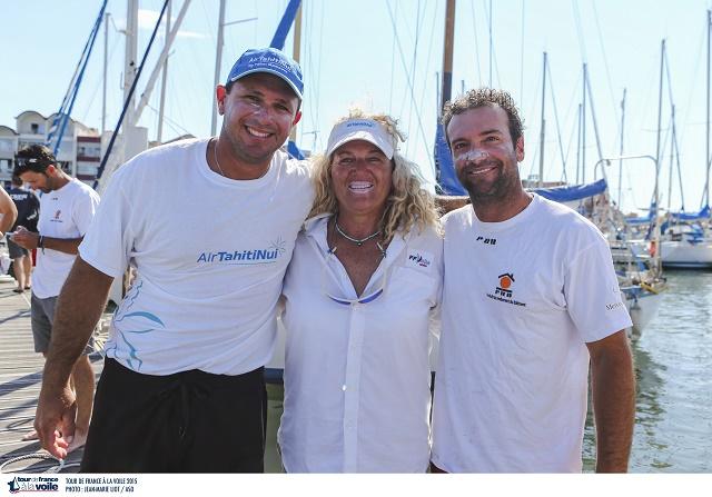Isabelle Barbeau, entourée de Teva Plichart (à gauche) et de Billy Besson.