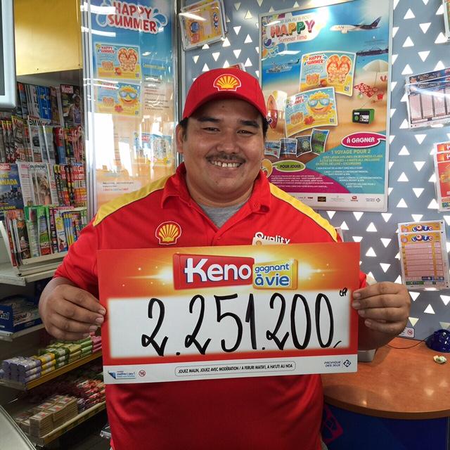 A la station Shell RDO, la chance du débutant pour un joueur de Keno
