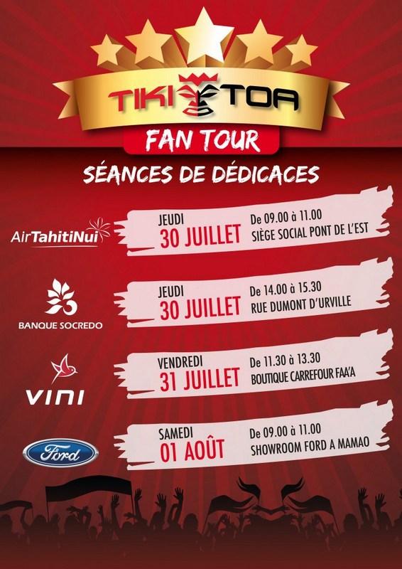 Tiki Toa Fan Tour : 4 séances de dédicaces