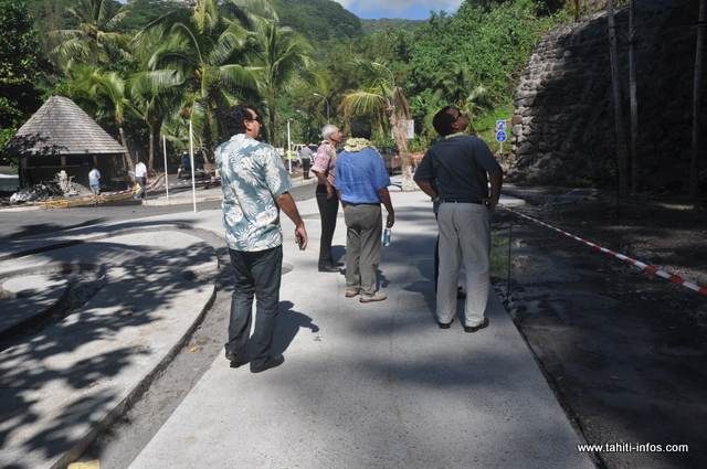 Le gouvernement a visité l'avancée des travaux du site