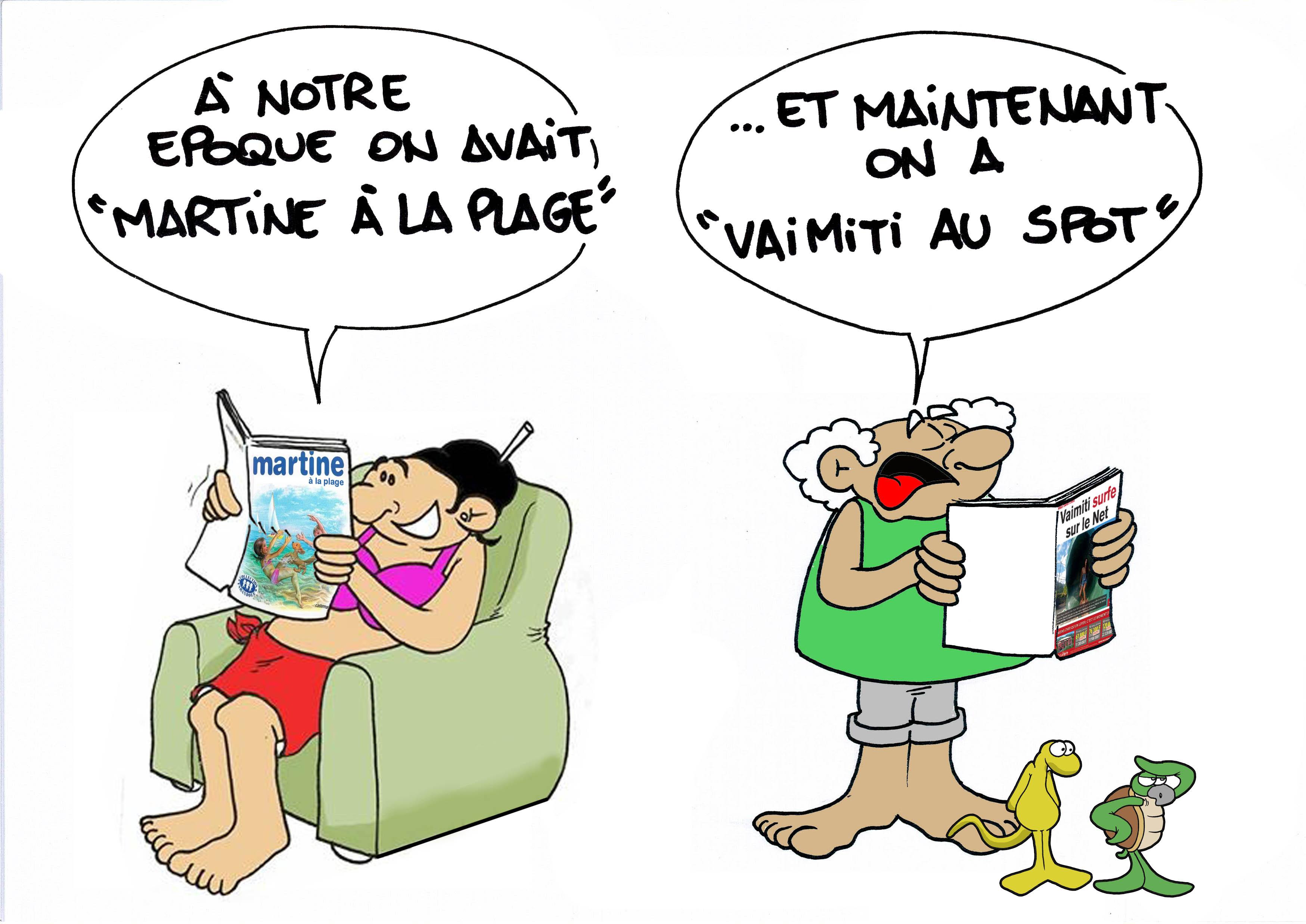 """""""La Miss met tout en ligne"""" par Munoz"""