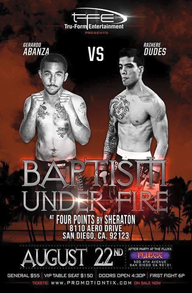 MMA - Baptism Under Fire : Dudes, Mc Comb et Paulet à nouveau dans 'la cage.'