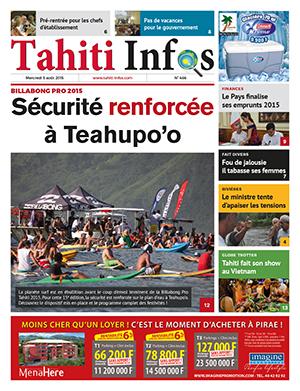 TAHITI INFOS N°466 du 5 août 2015