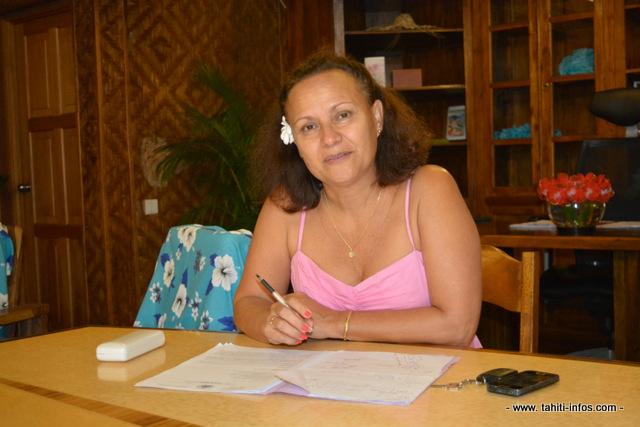 Christelle Lehartel n'est plus tavana de Papara à compter de ce vendredi 7 août.