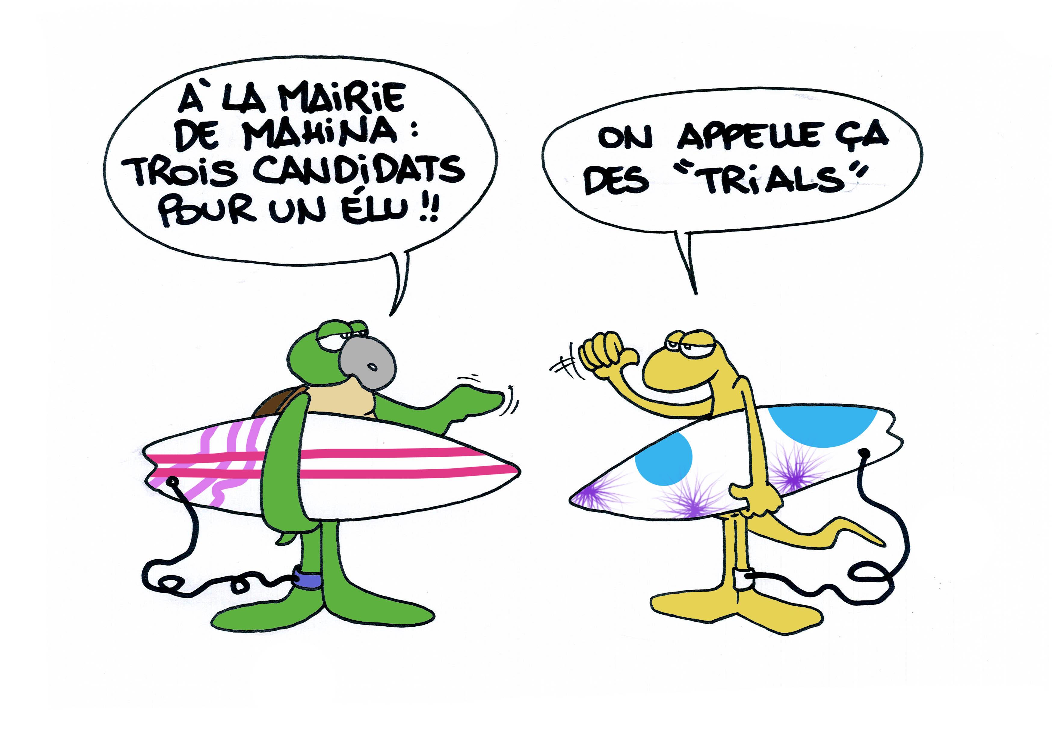 """""""Les trials à Mahina"""" vu par Munoz"""