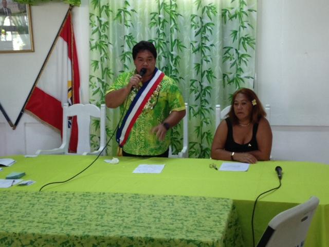 Damas Teuira succède à Patrice Jamet à la mairie de Mahina