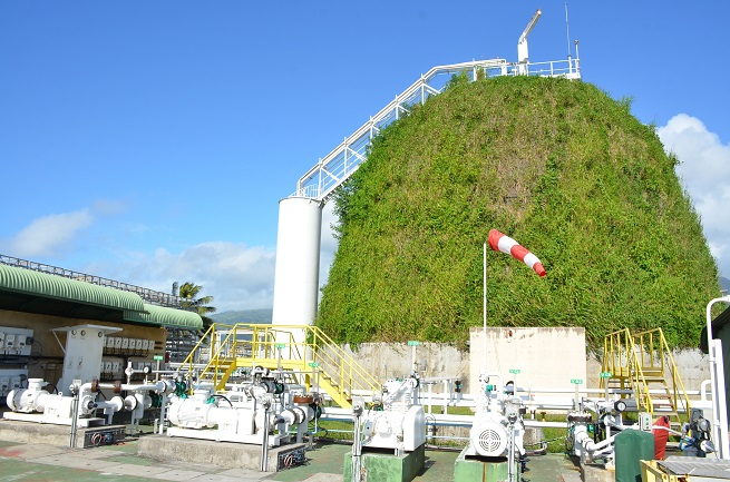 La sphère de gaz de Motu Uta.