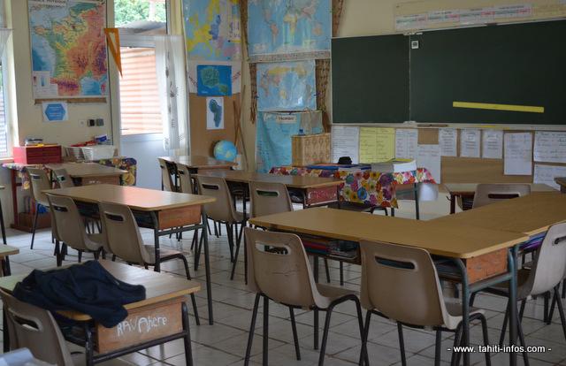 Les salles de classes en primaire sont encore vides en cette fin de semaine. Elles reprendront vie dès lundi matin.
