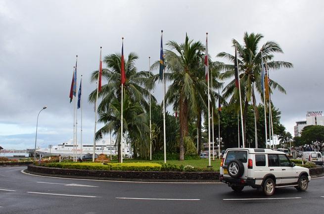 Baptisé officiellement en juin 2014 à l'occasion du 30e anniversaire de la fête de l'Autonomie, le rond-point du Pacifique va disparaître dans quelques semaines.