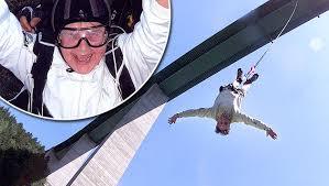 Une octogénaire saute à l'élastique d'un des ponts les plus hauts d'Europe